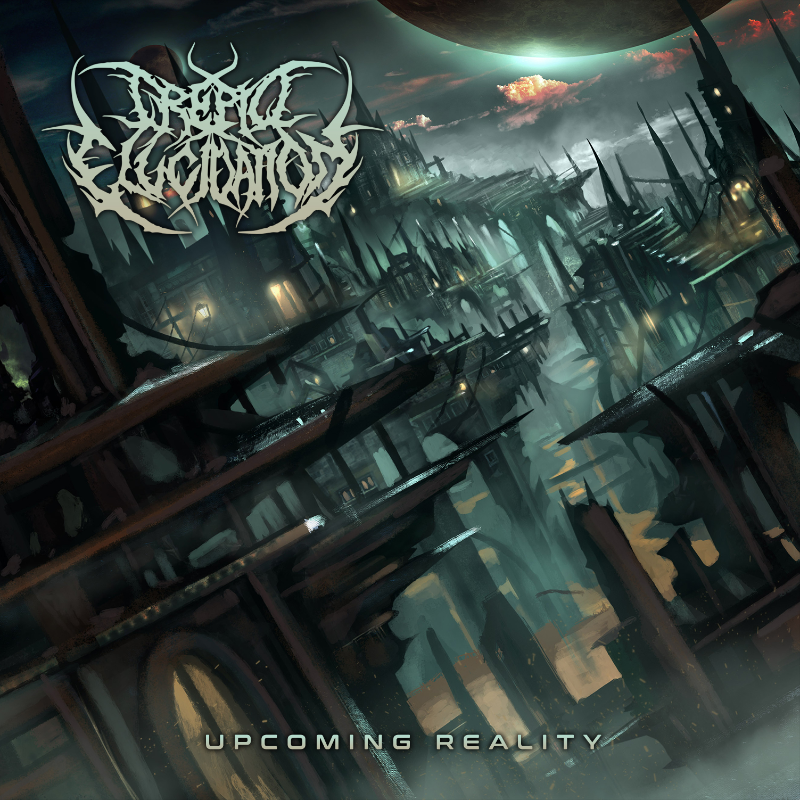 trepid elucidation upcoming reality album cover mosher records