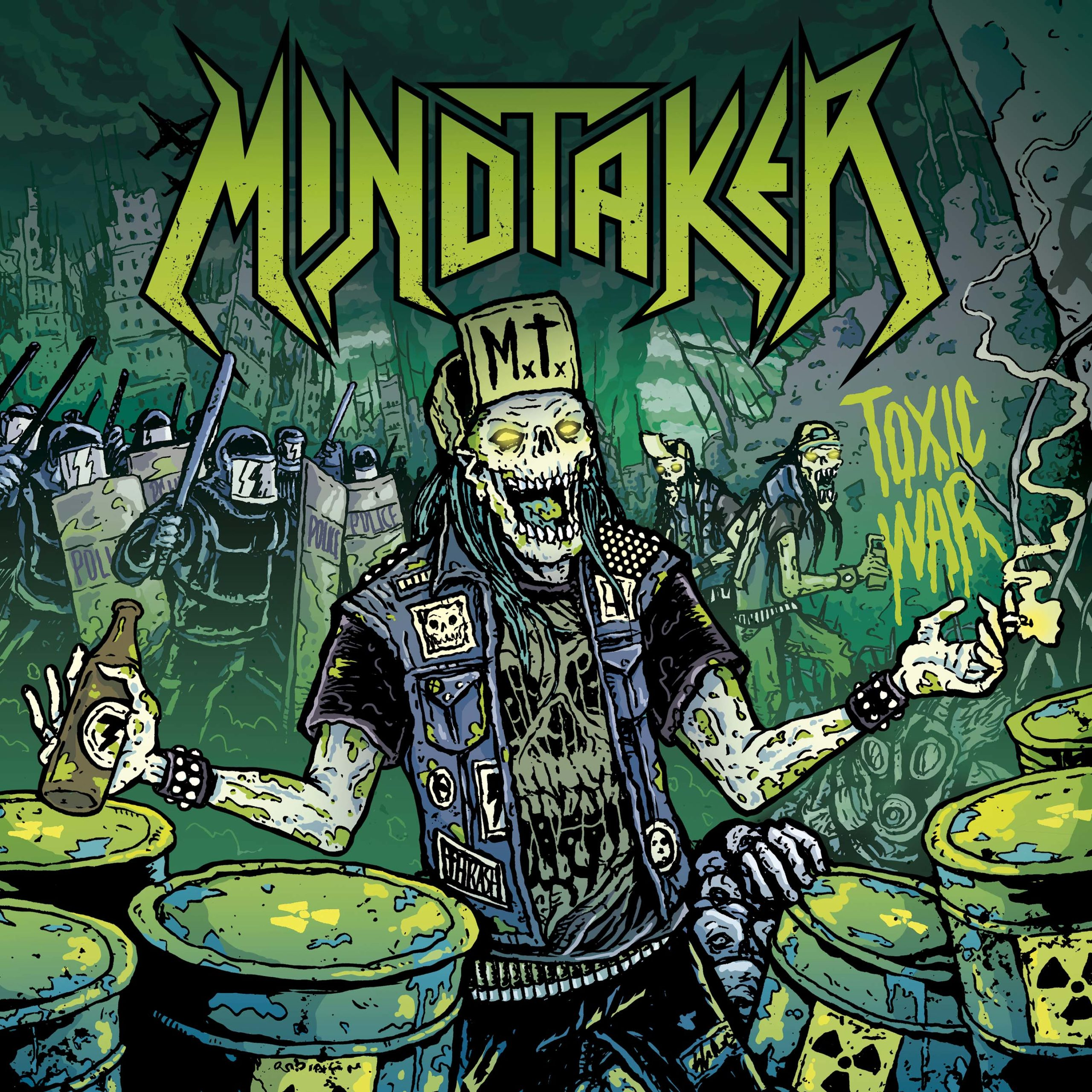 Mindtaker - Toxic War (Mosher Records, Firecum Records, Artwork by Luis Sendon)